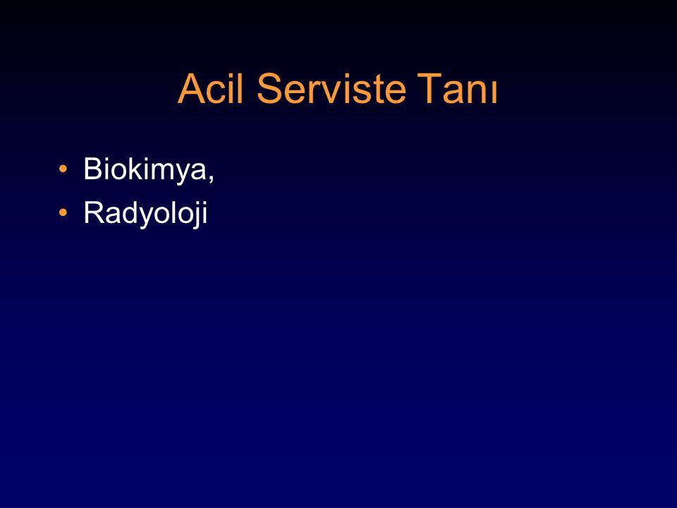 Acil Serviste Tanı Biokimya, Radyoloji