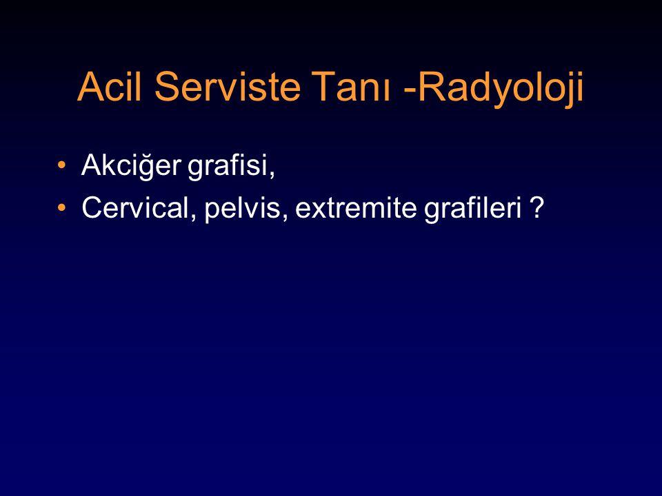 Acil Serviste Tanı -Radyoloji Akciğer grafisi, Cervical, pelvis, extremite grafileri ?