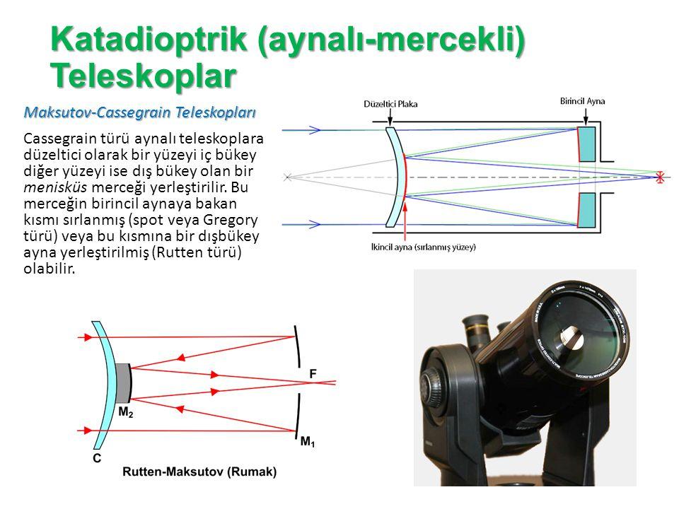 Katadioptrik (aynalı-mercekli) Teleskopların Avantajları: 1.Tüm teleskop türleri arasında en iyi olanıdır.