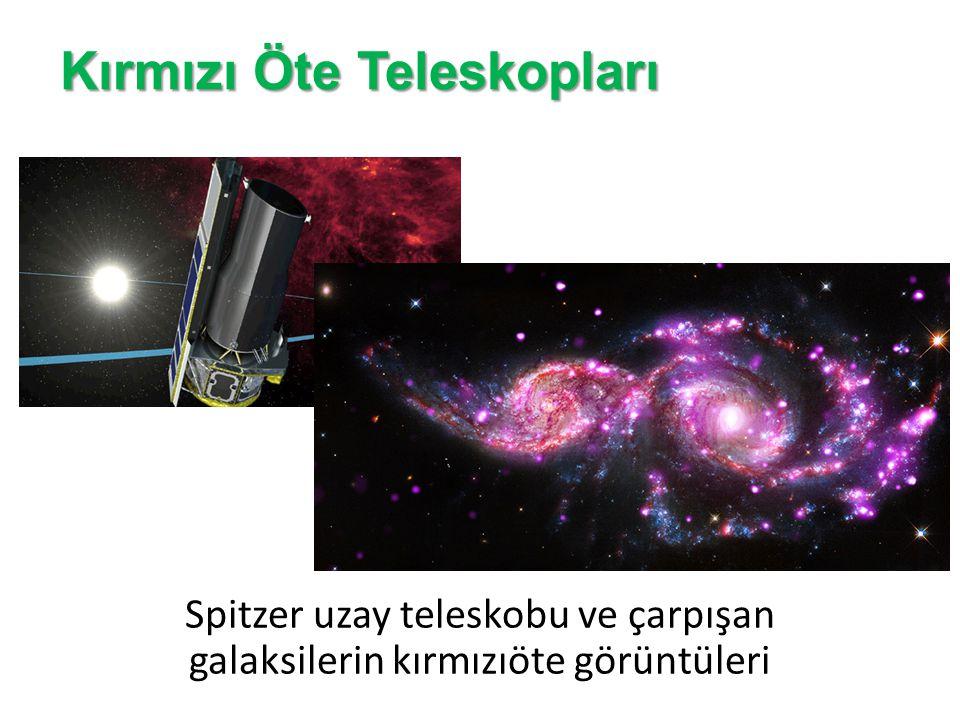Kırmızı Öte Teleskopları Spitzer uzay teleskobu ve çarpışan galaksilerin kırmızıöte görüntüleri