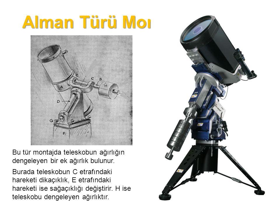 Yoke Türü Montaj Bu tür montajda teleskop bir çerçeve içine yerleştirilir.
