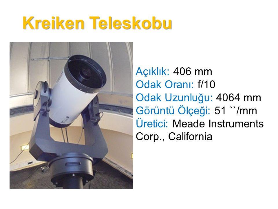T35 Teleskobu Açıklık: 356 mm Odak Oranı: f/10 Odak Uzunluğu: 3556 mm Görüntü Ölçeği: 58 ``/mm Üretici: Meade Instruments Corp., California
