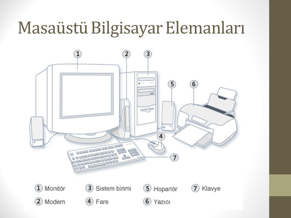 Masaüstü Bilgisayar Elemanları