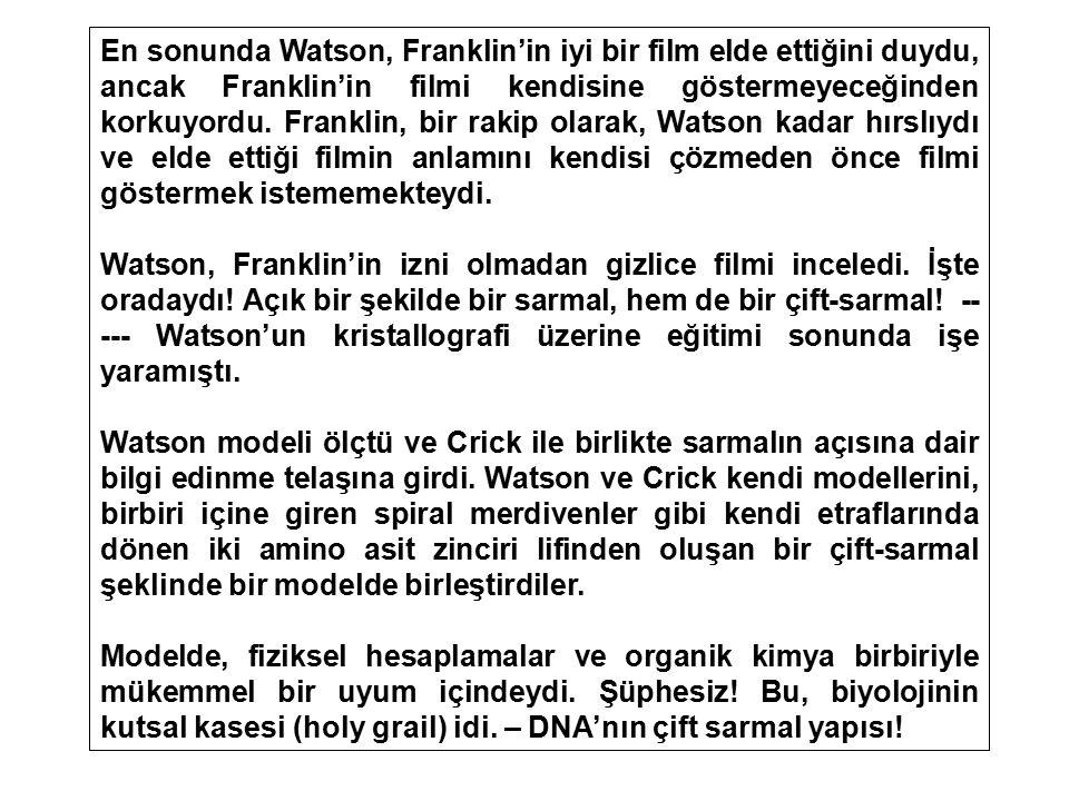 En sonunda Watson, Franklin'in iyi bir film elde ettiğini duydu, ancak Franklin'in filmi kendisine göstermeyeceğinden korkuyordu. Franklin, bir rakip