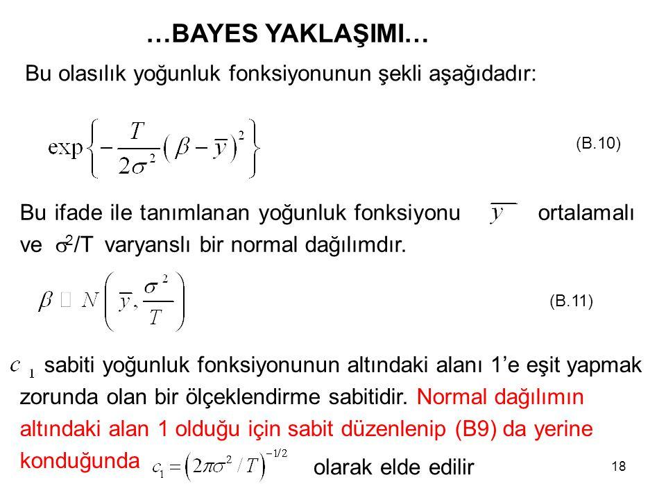 sabiti yoğunluk fonksiyonunun altındaki alanı 1'e eşit yapmak zorunda olan bir ölçeklendirme sabitidir. Normal dağılımın altındaki alan 1 olduğu için