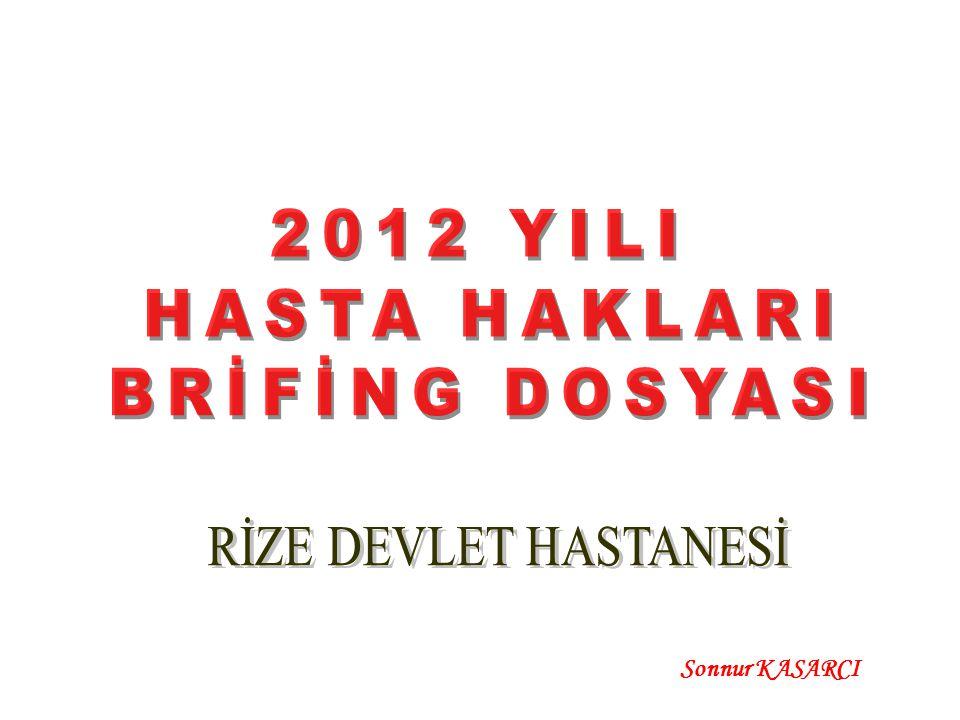 2011-2012 YILI TOPLAM BAŞVURUNUN DAĞILIMI