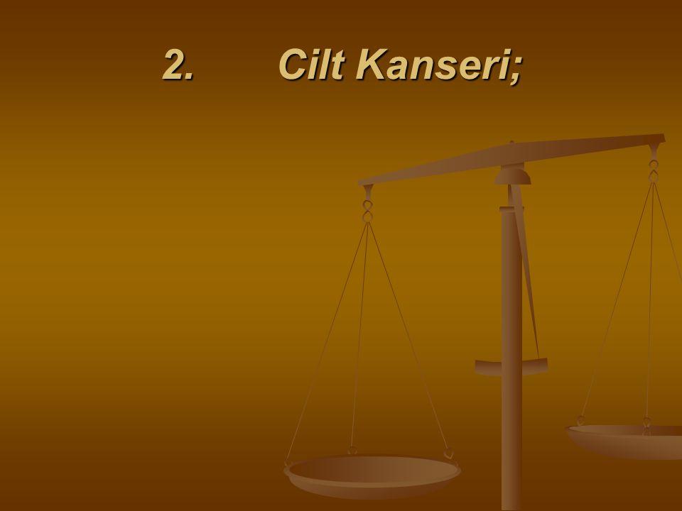 2. Cilt Kanseri;