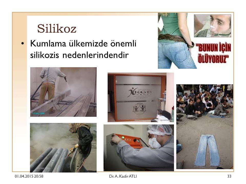 Silikoz Kumlama ülkemizde önemli silikozis nedenlerindendir 01.04.2015 21:00Dr. A. Kadir ATLI33