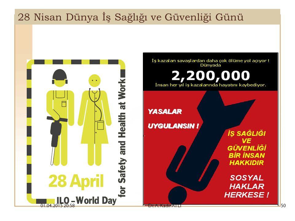 28 Nisan Dünya İş Sağlığı ve Güvenliği Günü 01.04.2015 21:00Dr. A. Kadir ATLI50