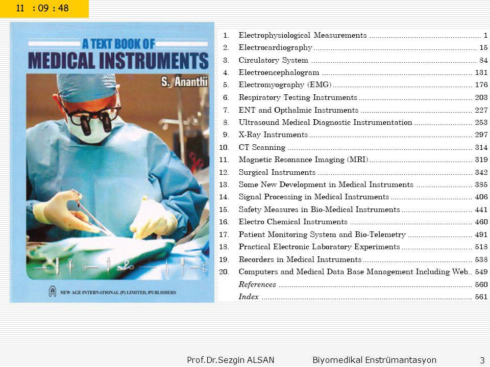 Prof.Dr.Sezgin ALSAN Biyomedikal Enstrümantasyon 94