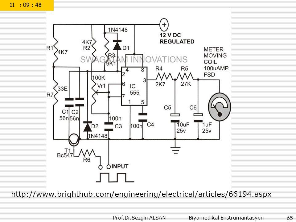 Prof.Dr.Sezgin ALSAN Biyomedikal Enstrümantasyon 65 http://www.brighthub.com/engineering/electrical/articles/66194.aspx