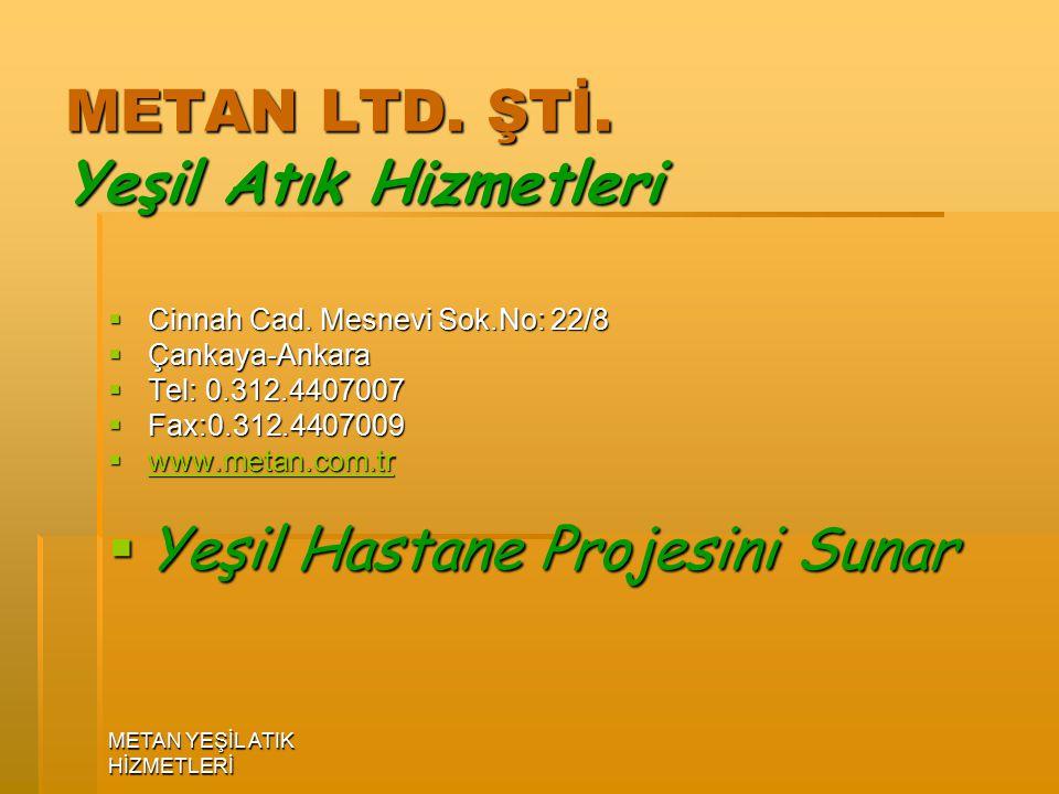 METAN YEŞİL ATIK HİZMETLERİ METAN LTD.ŞTİ. Yeşil Atık Hizmetleri  Cinnah Cad.