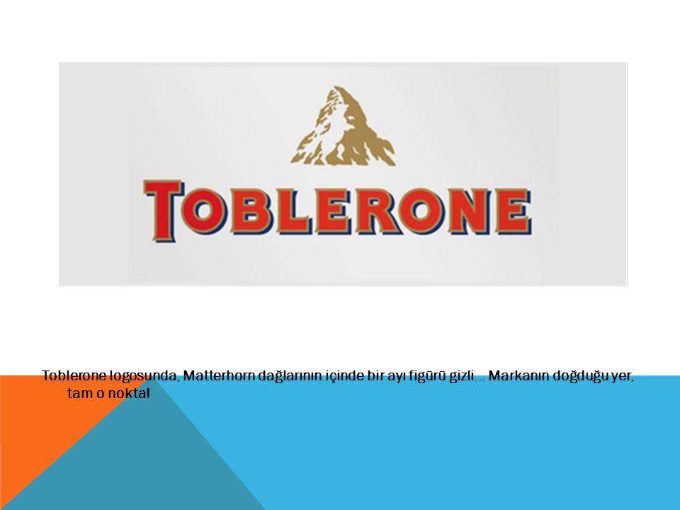 Toblerone logosunda, Matterhorn dağlarının içinde bir ayı figürü gizli... Markanın doğduğu yer, tam o nokta!