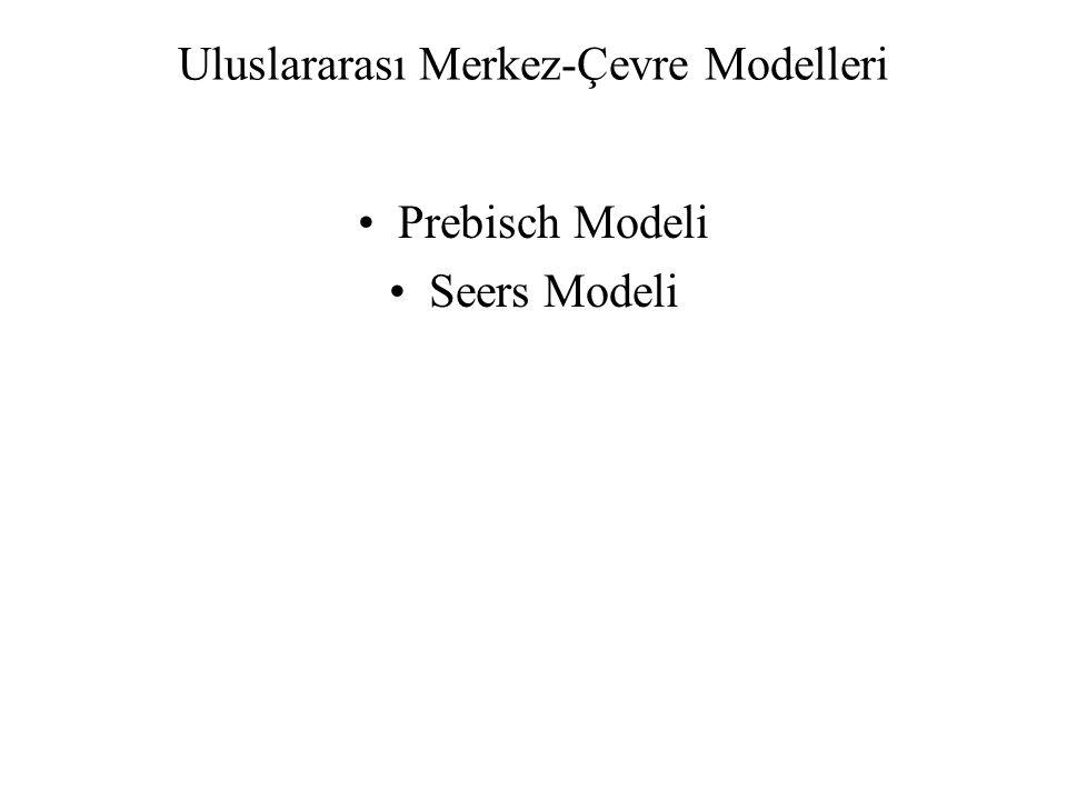 Uluslararası Merkez-Çevre Modelleri Prebisch Modeli Seers Modeli