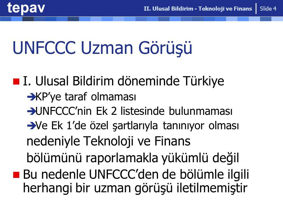 UNFCCC Uzman Görüşü I.
