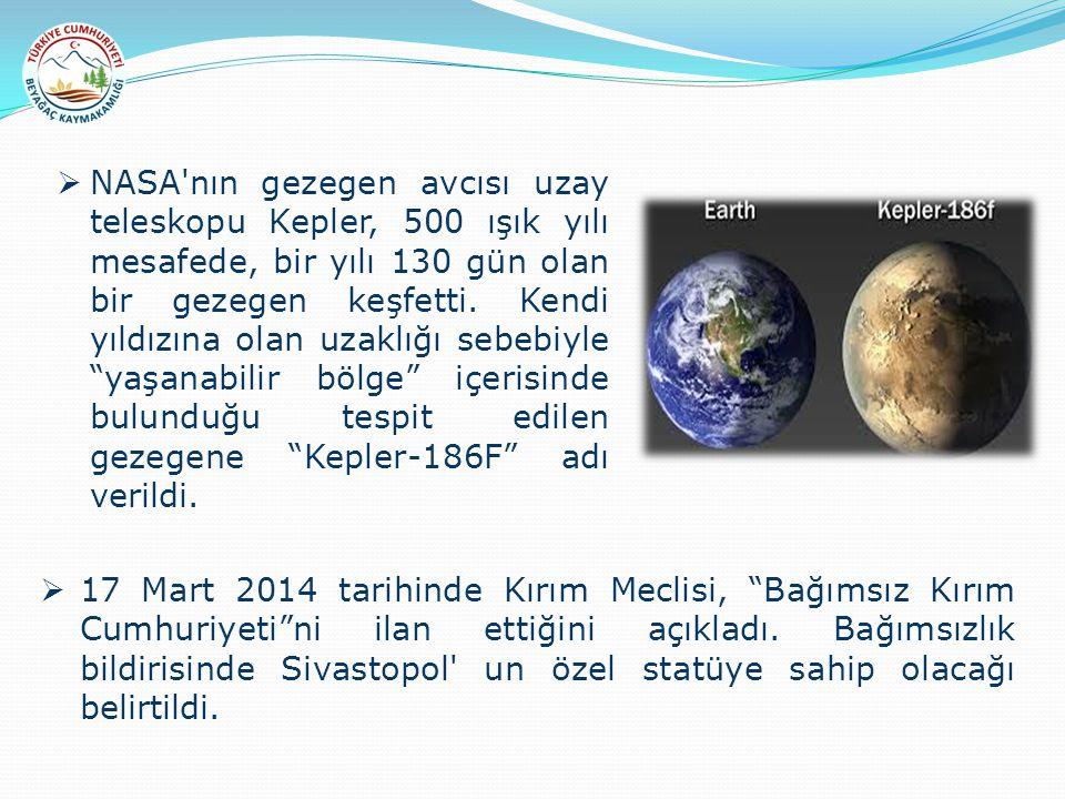  NASA nın gezegen avcısı uzay teleskopu Kepler, 500 ışık yılı mesafede, bir yılı 130 gün olan bir gezegen keşfetti.