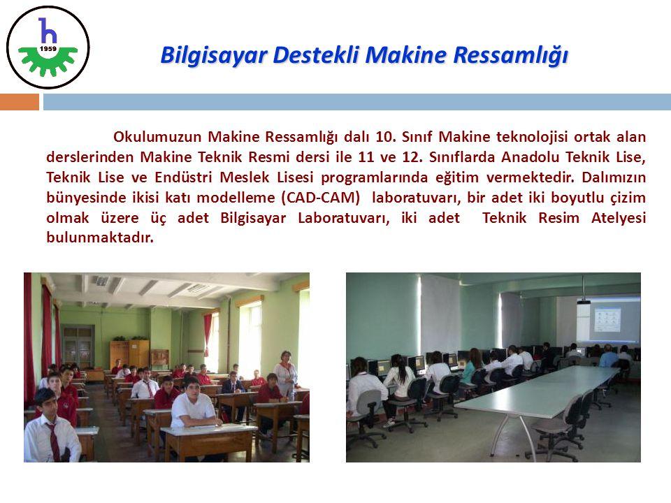 Okulumuzun Makine Ressamlığı dalı 10. Sınıf Makine teknolojisi ortak alan derslerinden Makine Teknik Resmi dersi ile 11 ve 12. Sınıflarda Anadolu Tekn
