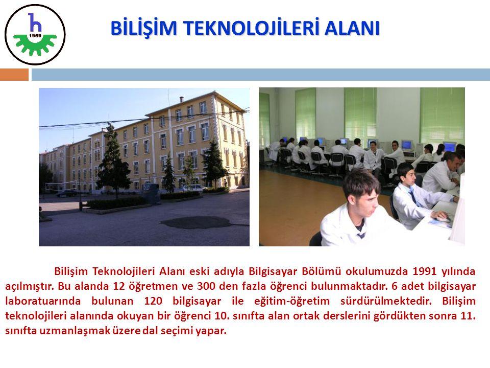 Bilişim Teknolojileri Alanı eski adıyla Bilgisayar Bölümü okulumuzda 1991 yılında açılmıştır. Bu alanda 12 öğretmen ve 300 den fazla öğrenci bulunmakt