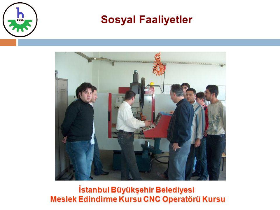 İstanbul Büyükşehir Belediyesi Meslek Edindirme Kursu CNC Operatörü Kursu Meslek Edindirme Kursu CNC Operatörü Kursu