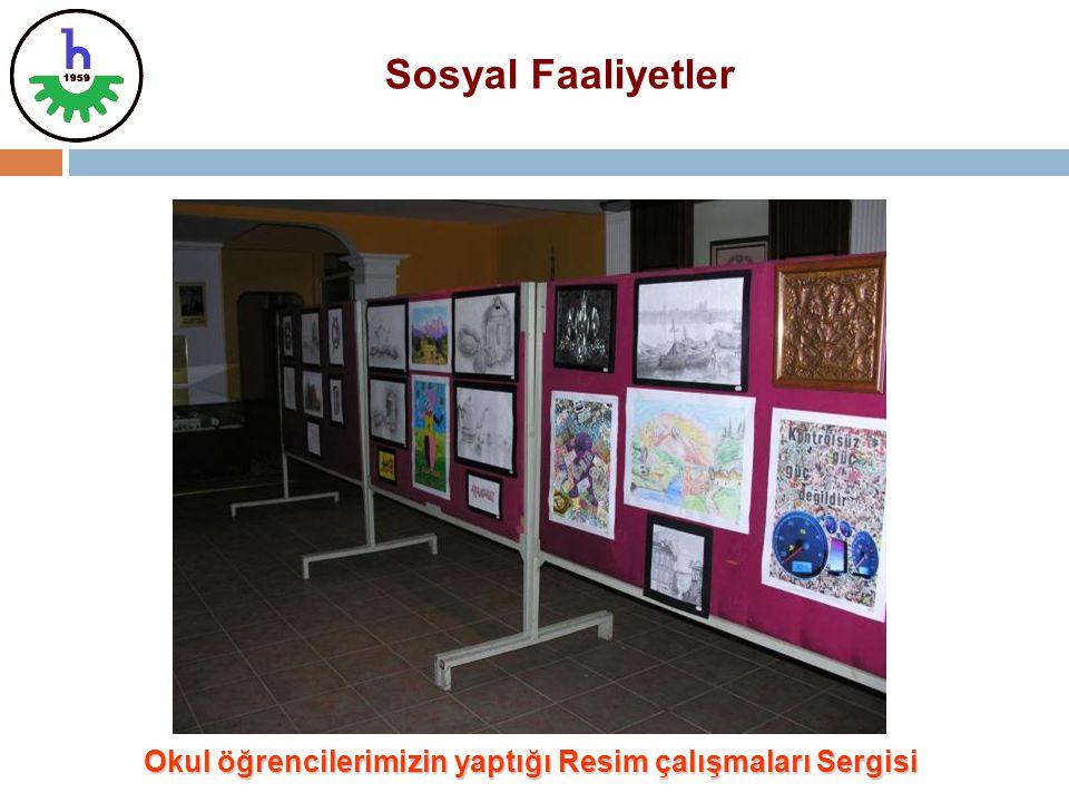 Okul öğrencilerimizin yaptığı Resim çalışmaları Sergisi Sosyal Faaliyetler