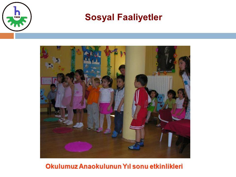 Okulumuz Anaokulunun Yıl sonu etkinlikleri Sosyal Faaliyetler