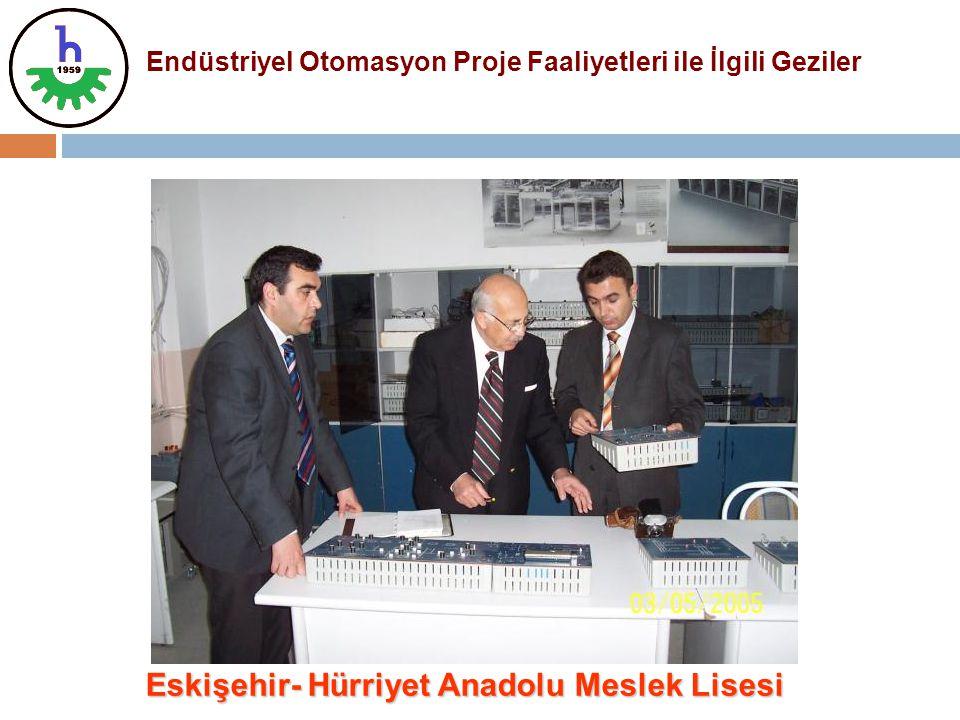 Endüstriyel Otomasyon Proje Faaliyetleri ile İlgili Geziler Eskişehir- Hürriyet Anadolu Meslek Lisesi