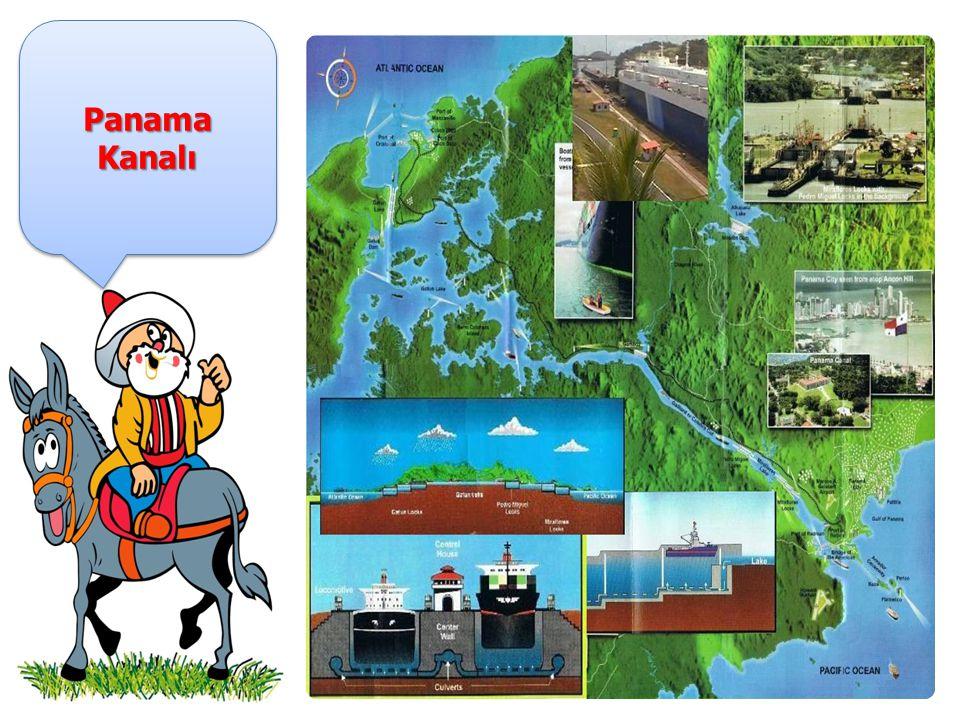 Panama Kanalı Orta Amerika nın en güney ülkesi Panama topraklarında yer alır ve Atlas Okyanusu ile Büyük Okyanus unu birbirine bağlayan suyoludur.