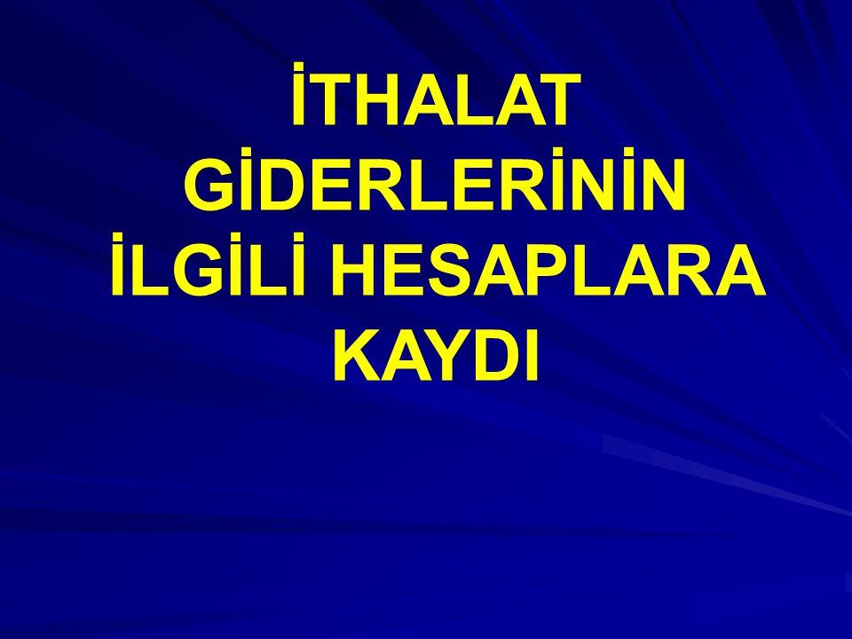 İTHALAT BEDELİNİ ÖDEME; Bir ay vadeli Akreditifli ithalat bedeli 100.000.- Euro (€) 04.04.200x t.