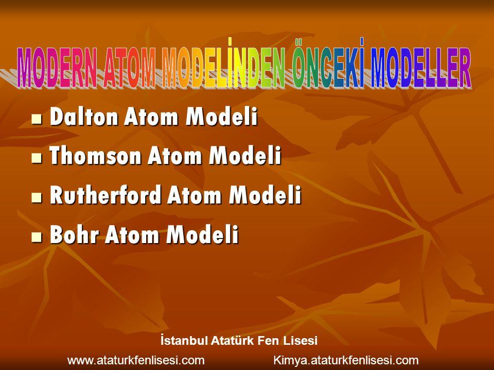 Dalton Atom Modeli Dalton Atom Modeli Thomson Atom Modeli Thomson Atom Modeli Rutherford Atom Modeli Rutherford Atom Modeli Bohr Atom Modeli Bohr Atom