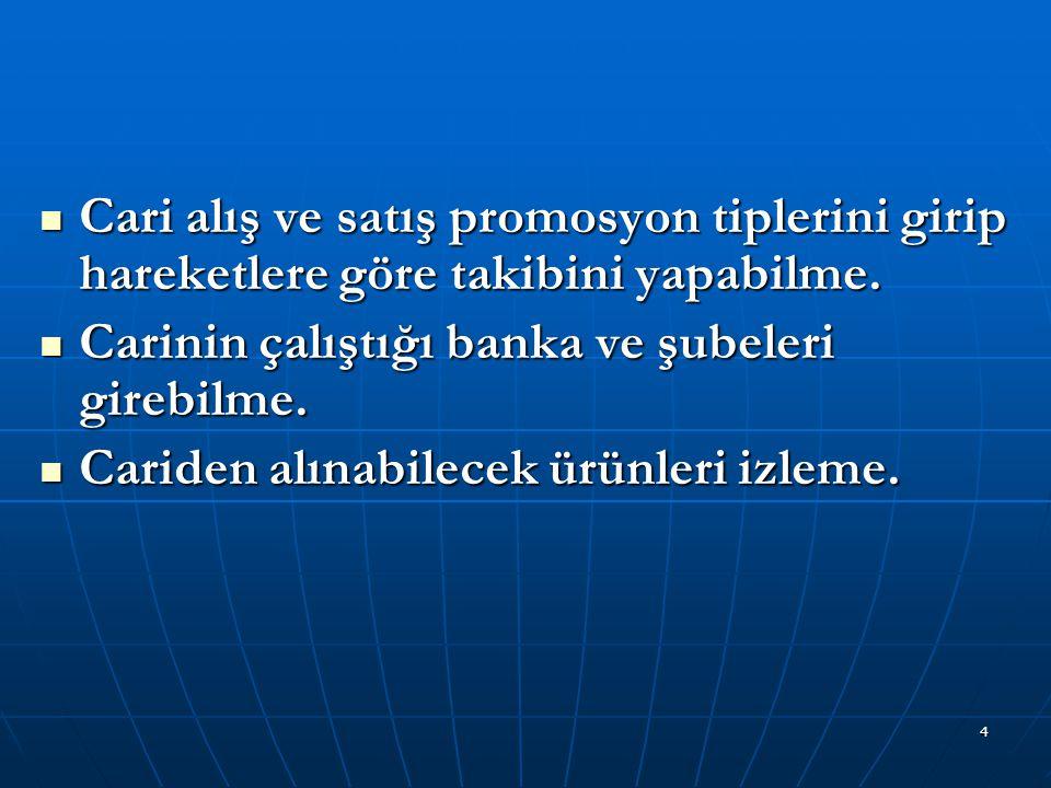 5 CARİ İŞLEMLER