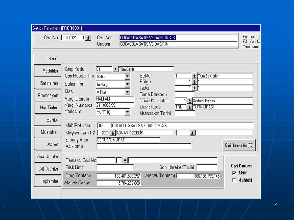 18 Kayıt bazında geçmişe yönelik log tutulması.Kayıt bazında geçmişe yönelik log tutulması.