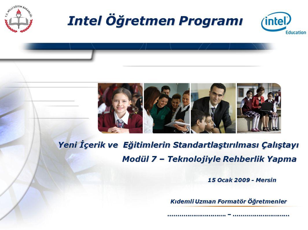 Presented By Harry Mills / PRESENTATIONPRO Intel Öğretmen Programı Yeni İçerik ve Eğitimlerin Standartlaştırılması Çalıştayı 15 Ocak 2009 - Mersin Kıdemli Uzman Formatör Öğretmenler..............................