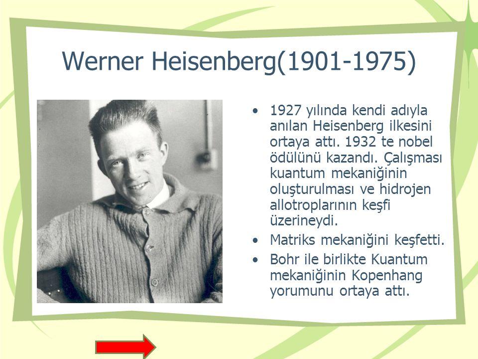 Wolfgang Ernst Pauli(1900-1958) 1945yılında fizikte Nobel Ödülü aldı.