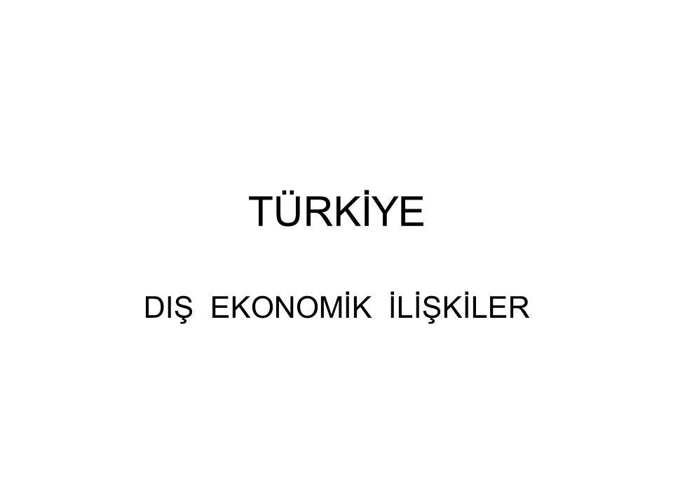 2009 yılında Türkiye'nin Dış Ticareti Türkiye nin 2009 yılı ihracatı, bir önceki yıla göre yüzde 22,6 azalarak 102 milyar 165 milyon dolara geriledi.