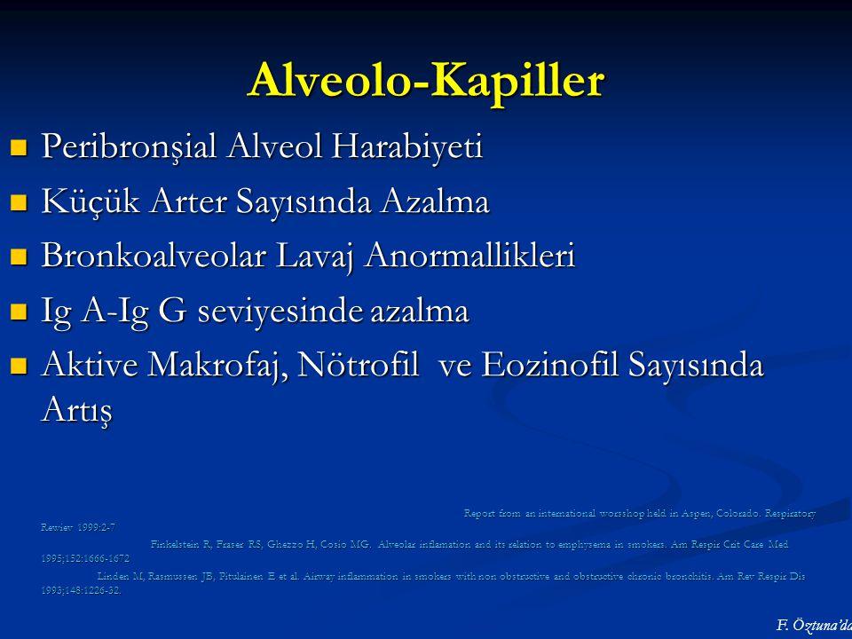 Alveolo-Kapiller Peribronşial Alveol Harabiyeti Peribronşial Alveol Harabiyeti Küçük Arter Sayısında Azalma Küçük Arter Sayısında Azalma Bronkoalveola