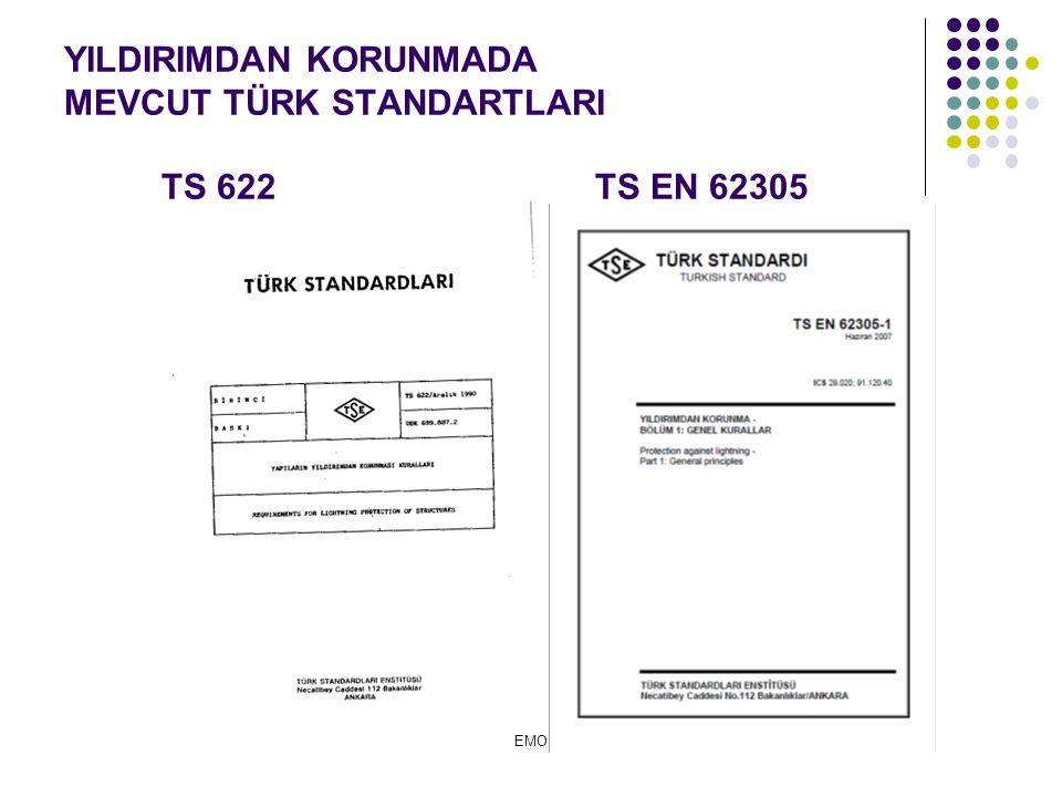 YILDIRIMDAN KORUNMADA MEVCUT TÜRK STANDARTLARI TS 622TS EN 62305 EMO