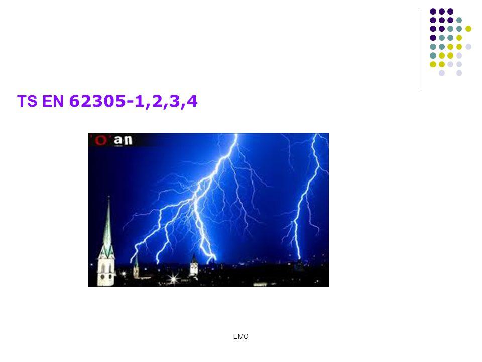 Diğer elektrot tipleri için geçiş direnci hesapları Gözlü topraklayıcı R E : Topraklama direnci D : Gözlü topraklayıcının eşdeğer daire alan çapı  E : Özgül toprak direnci L : Topraklayıcı toplam iletken uzunluğu a n adet b m adet D D = (axb/  ) 1/2 L = a.n + b.m R E =  E / 2D +  E / L TOPRAKLAMA ELEKTRODU EMO