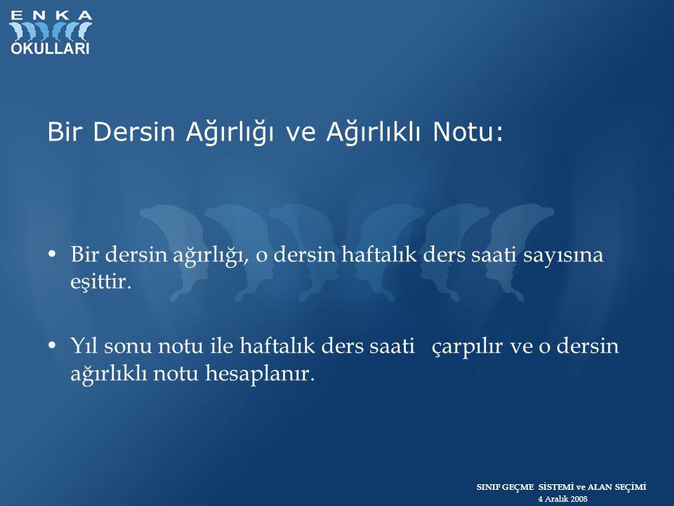 SINIF GEÇME SİSTEMİ ve ALAN SEÇİMİ 4 Aralık 2008 3.