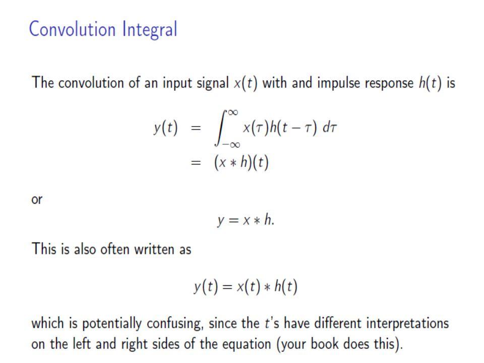 Y(t) = x(t)*h(t) = ? t=0
