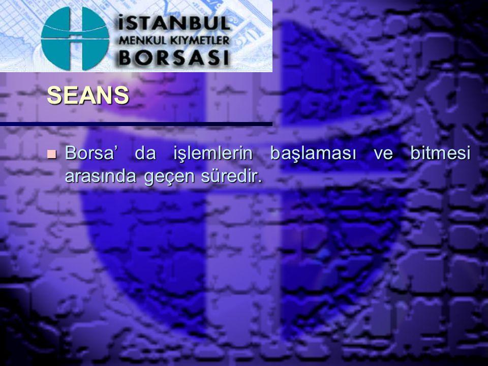 ÜYE TEMSİLCİSİ ( BROKER) n Borsa' da işlem yapma yetkisine sahip aracı kuruluş temsilcisidir.