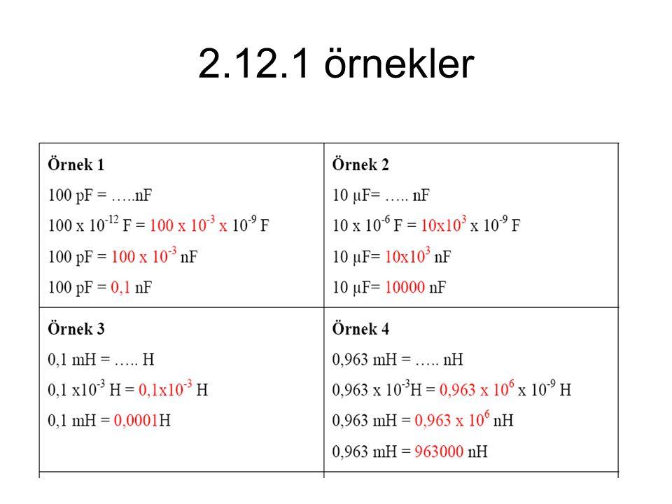 2.12.1 örnekler