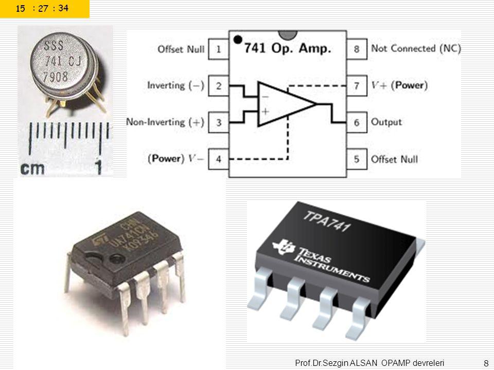 Prof.Dr.Sezgin ALSAN OPAMP devreleri 69 Single Chip Circuit for Multiplication Operation