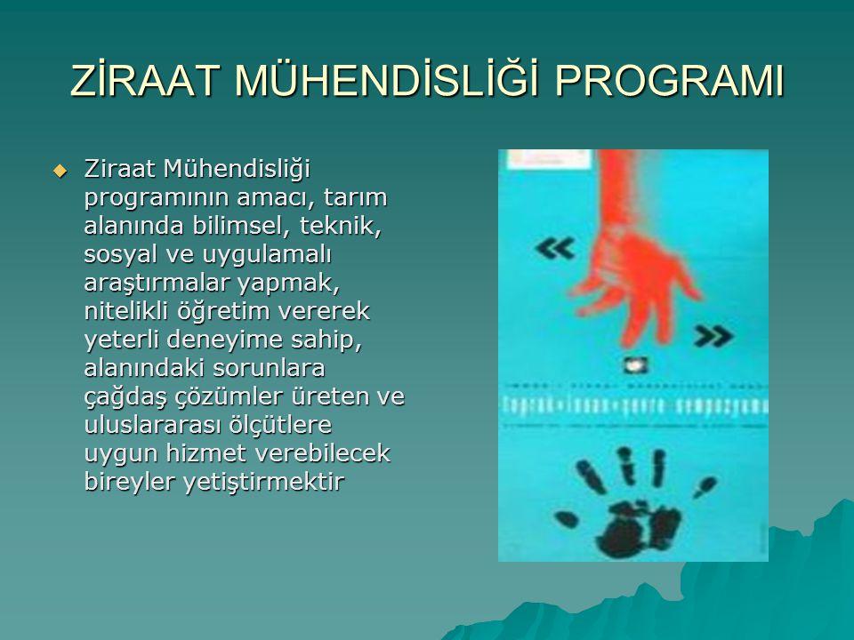 Ziraat mühendisliği eğitimi  Türkiye de ilk tarımsal eğitim- öğretim 1846 yılında İstanbul da ziraat mektebiyle başlamış.