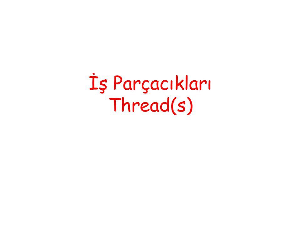 Başlatma / Durdurma Bir thread, Thread nesnesi oluşturulduktan sonra Thread.Start ile başlatılabilir.