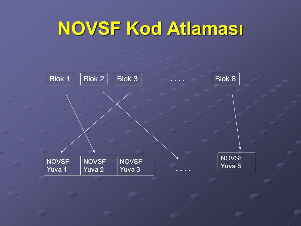 NOVSF Kod Atlaması Blok 1Blok 2Blok 3Blok 8 NOVSF Yuva 1 NOVSF Yuva 2 NOVSF Yuva 3 NOVSF Yuva 8..