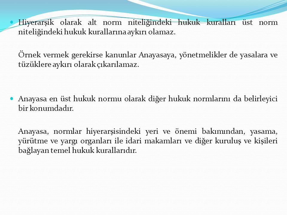 GENEL ESASLAR Türkiye Cumhuriyetinin nitelikleri; toplumun huzuru, milli dayanışma ve adalet anlayışı içinde, insan haklarına saygılı, Atatürk milliyetçiliğine bağlı, başlangıçta belirtilen temel ilkelere dayanan, demokratik, laik ve sosyal bir hukuk Devleti olarak ifade edilmiştir.