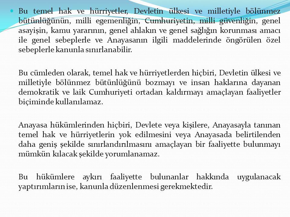C.Yargı 1. Genel Hükümler Yargı yetkisi, Türk Milleti adına bağımsız mahkemelerce kullanılır.