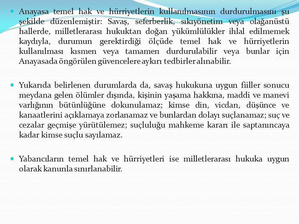 bb.Yürütme ile İlgili Olanlar Başbakanı atamak ve istifasını kabul etmek, Başbakanın teklifi üzerine bakanları atamak ve görevlerine son vermek, Gerekli gördüğü hallerde Bakanlar Kuruluna başkanlık etmek veya Bakanlar Kurulunu başkanlığı altında toplantıya çağırmak, Yabancı Devletlere Türk Devletinin temsilcilerini göndermek, Türkiye Cumhuriyetine gönderilecek yabancı Devlet temsilcilerini kabul etmek, Milletlerarası antlaşmaları onaylamak ve yayımlamak, Türkiye Büyük Millet Meclisi adına Türk Silahlı Kuvvetlerinin Başkomutanlığını temsil etmek, Türk Silahlı Kuvvetlerinin kullanılmasına karar vermek,