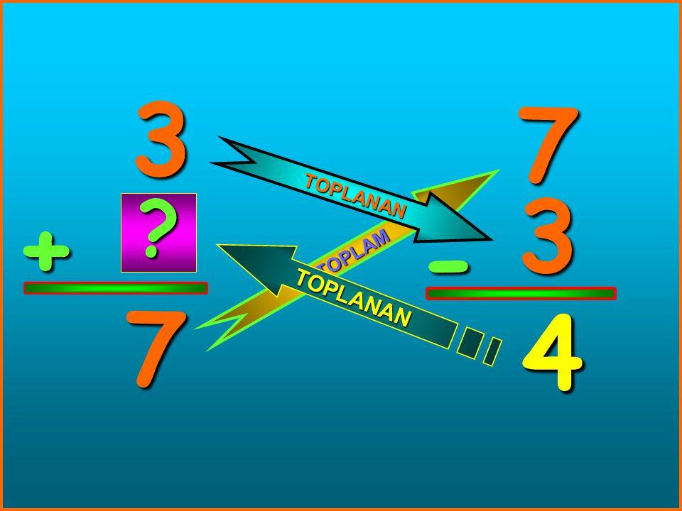 5 + 12 12 5 - 7 T O P L A M TOPLANAN T O P L A N A N ? 7