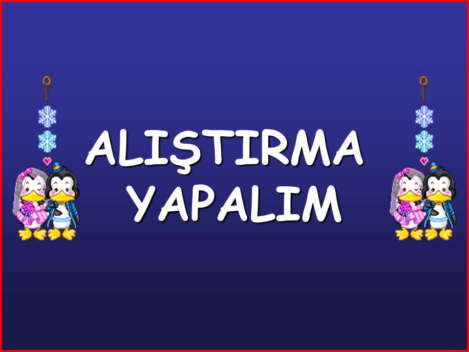ALIŞTIRMA YAPALIM